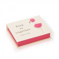 Boîte fermée de trombones en forme de Flamant rose par Jellycat