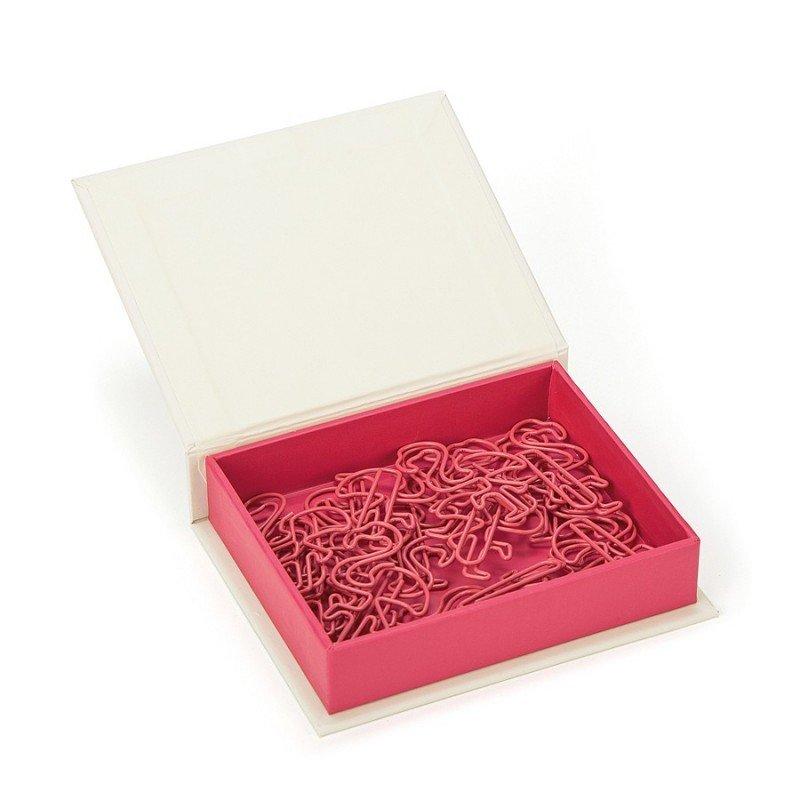 Boîte de trombones en forme de flamant rose par Jellycat