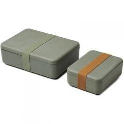 Lunch box bambou vert - 2 boites