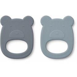 2 Jouets en silicone ours bleu