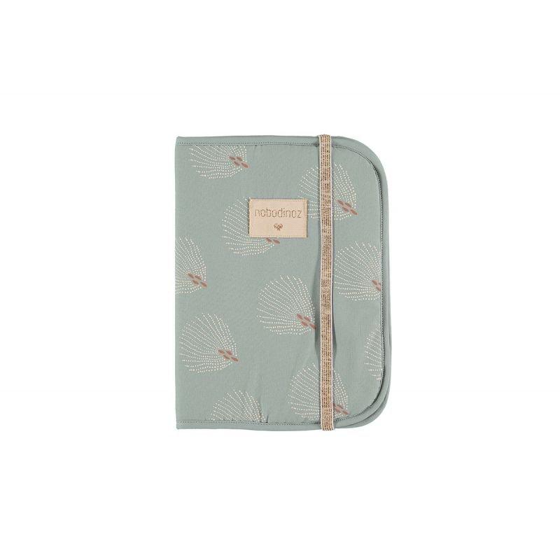 Protège carnet de santé Vert plumes  (Gatsby)