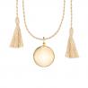 Bola Or Jaune - cordon en soie beige