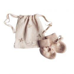 Chaussons tricotés Beige
