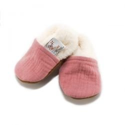 Chaussons rose thé