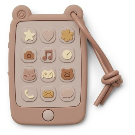 Téléphone en silicone à machouiller rose