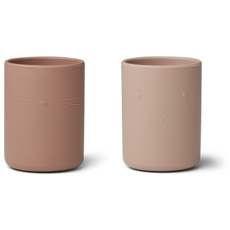 Lot de 2 tasses en silicone Rose mix