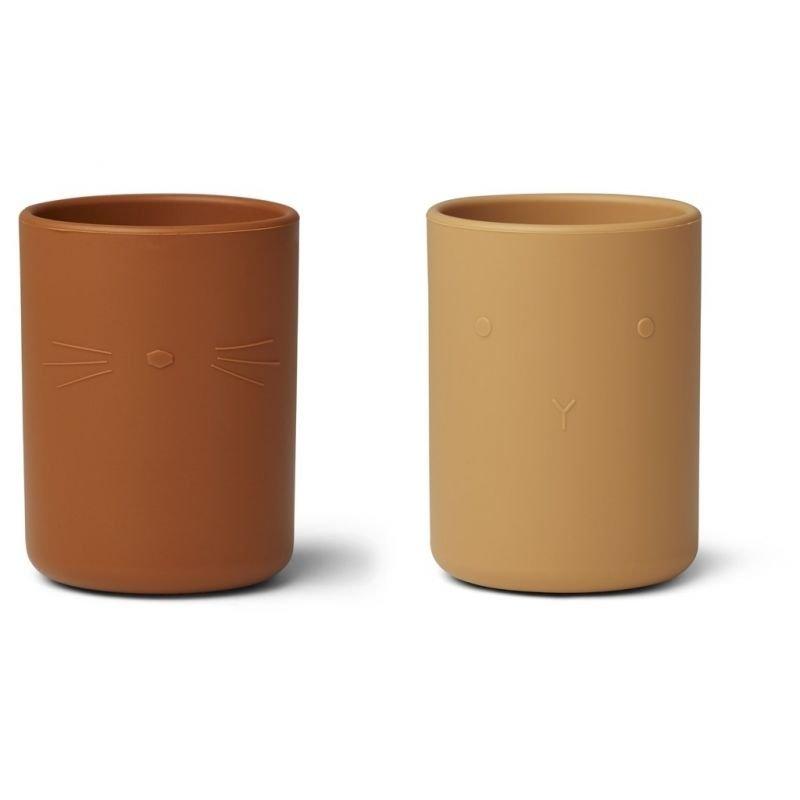 Lot de 2 tasses en silicone Jaune mix