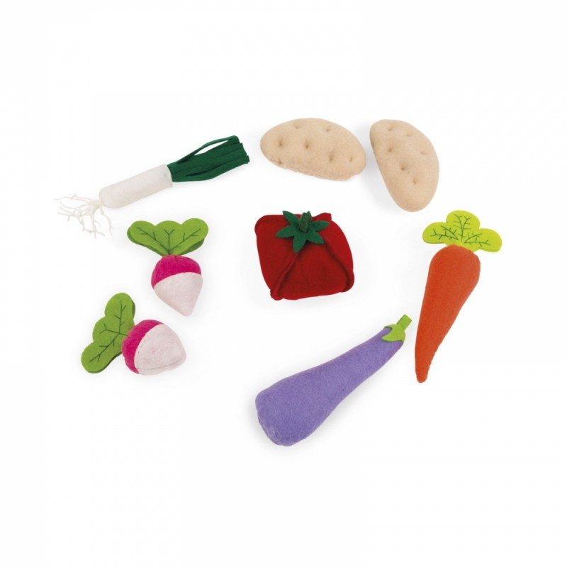 8 légumes en feutrine garnis de mousse
