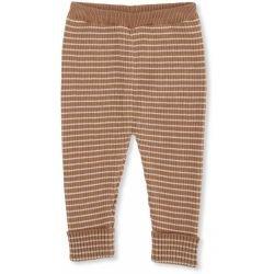 Pantalon coton Marron rayé