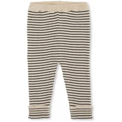 Pantalon coton Crème rayé