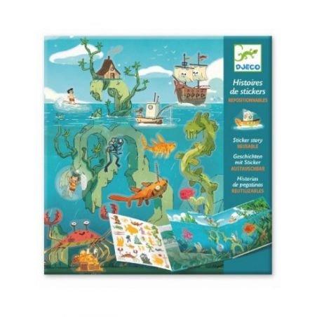 Histoire de stickers - les aventures de la mer
