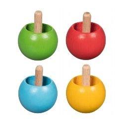 Toupie en bois (coloris aléatoire)