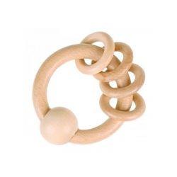 Hochet en bois anneau