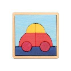Puzzle bois voiture
