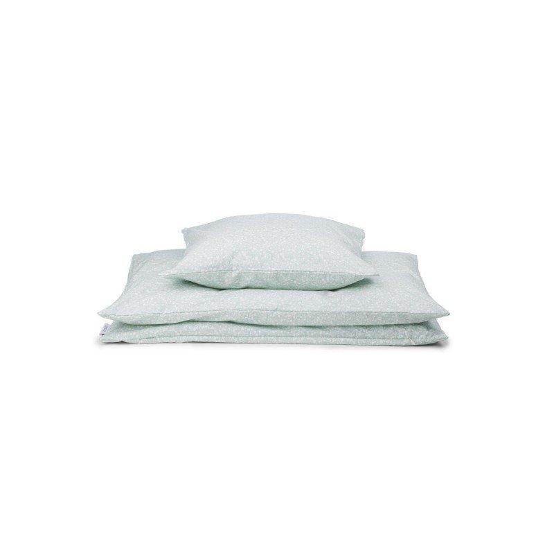 Parure de lit 1 personne vert d'eau par Liewood avec le drap, la housse de couette et la taie d'oreiller