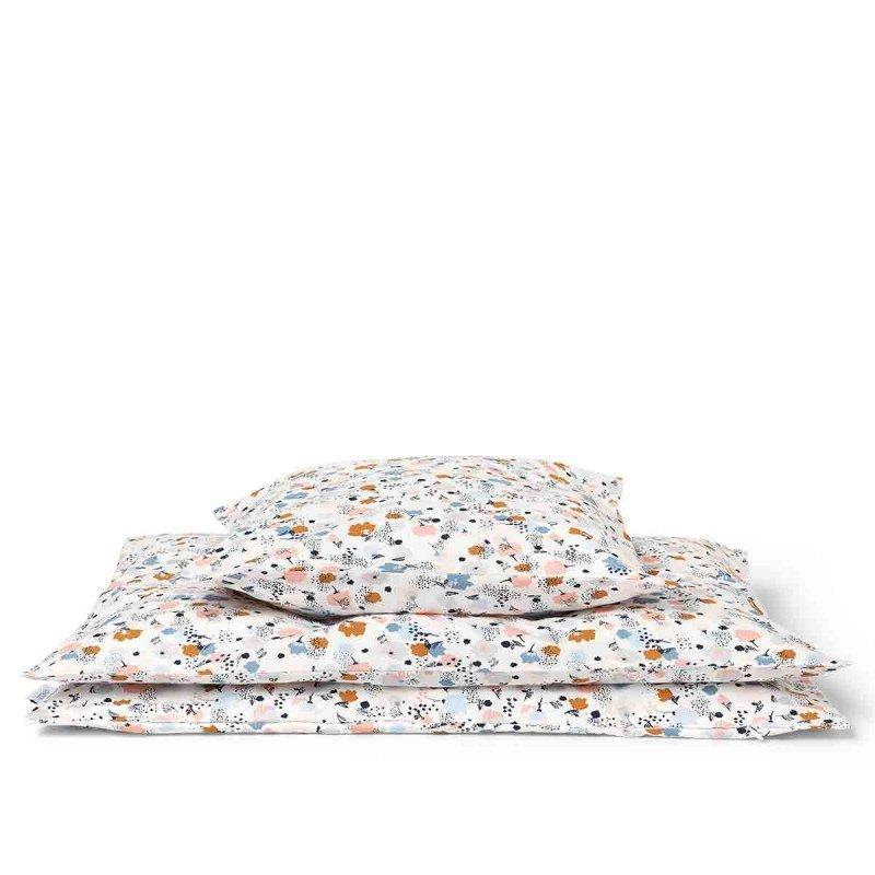 Parure de lit 1 personne fleurs par Liewood avec le drap, la housse de couette et la taie d'oreiller