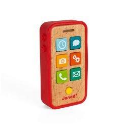 Téléphone sonore en bois et silicone
