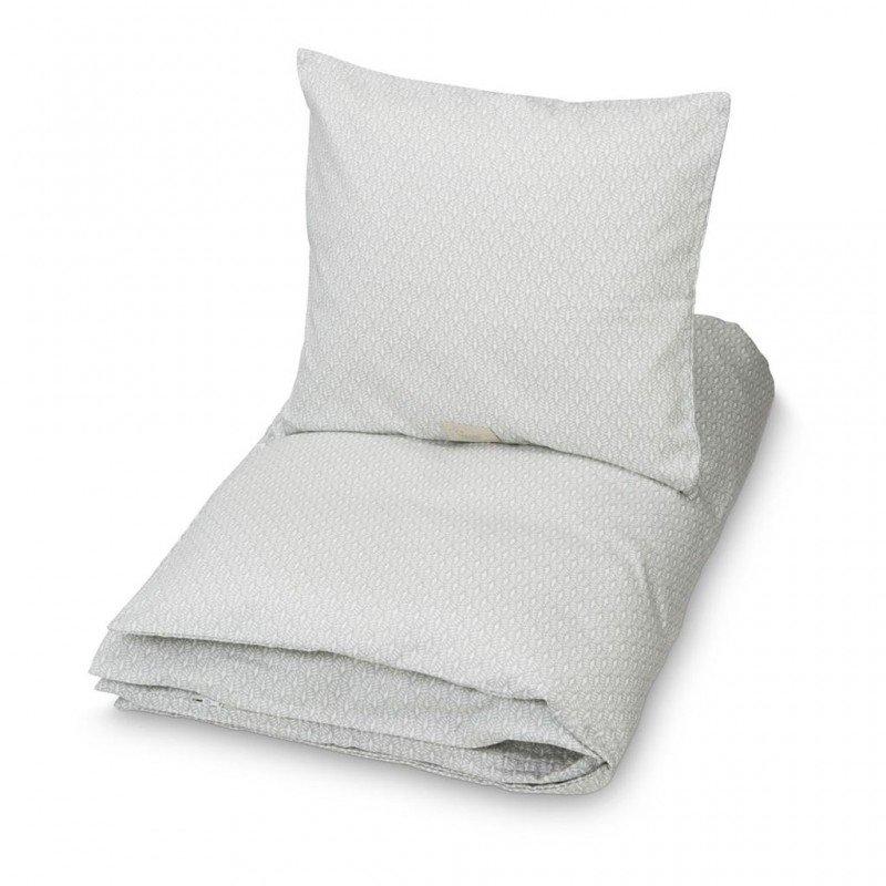 Vue en détail du motif de la parure de lit 1 personne Paon par Cam Cam Copenhagen