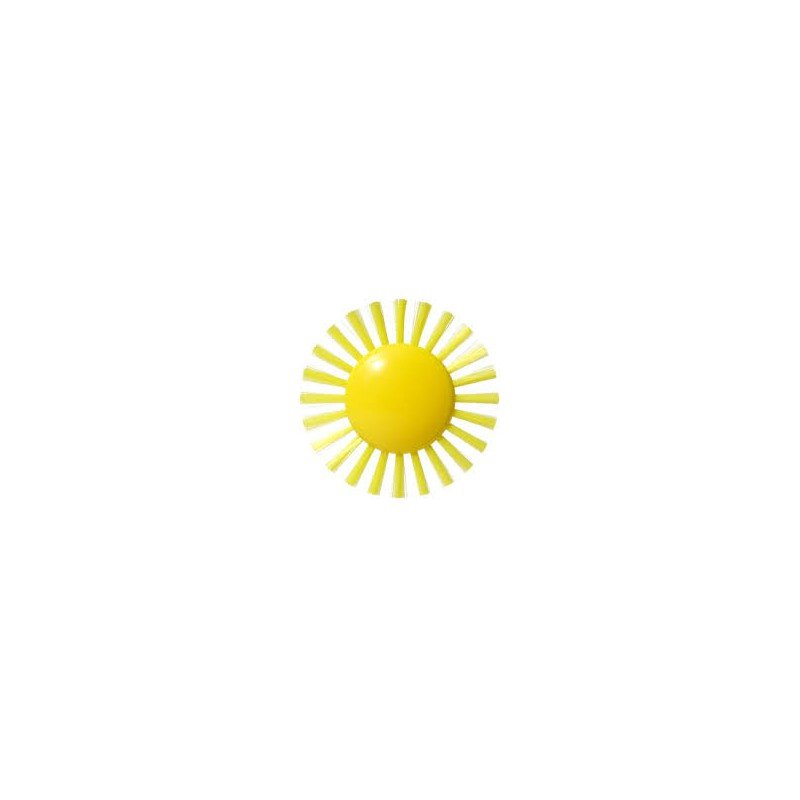 Jouet pour le bain de bébé en forme de soleil