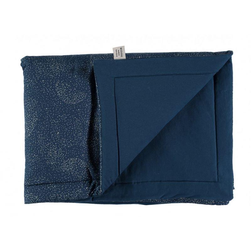 Petite couverture coton bubble bleu nuit