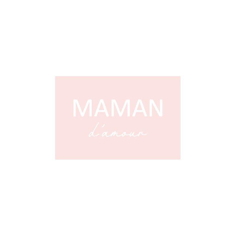 Carte Maman d'amour Rose
