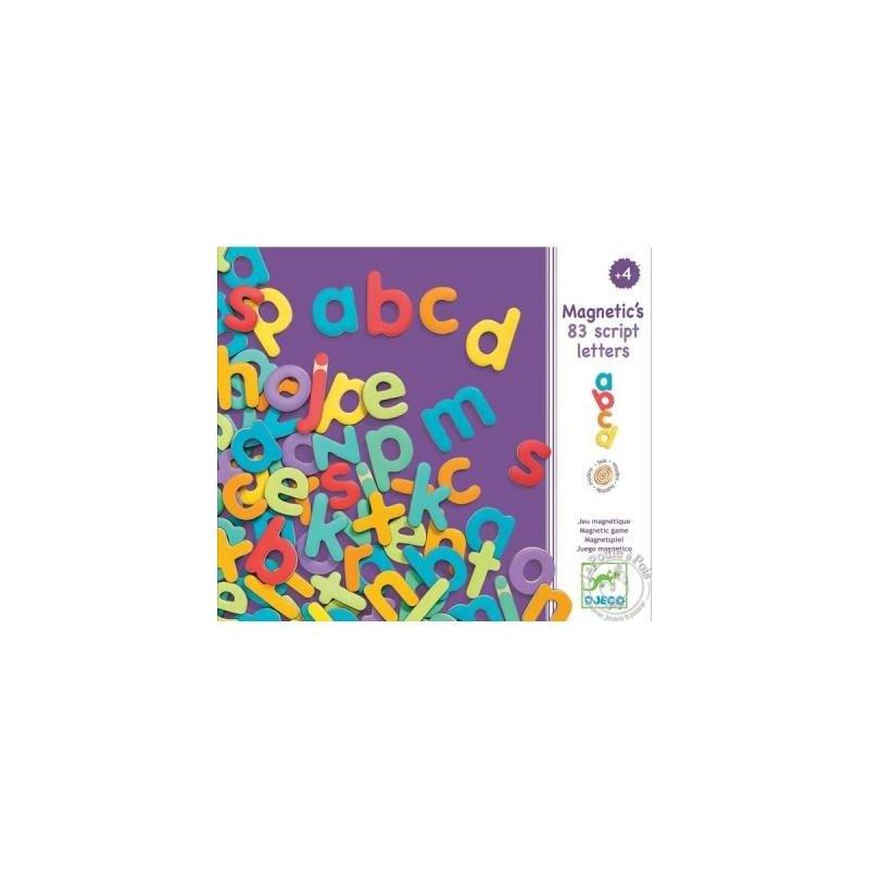 83 lettres majuscules minuscules en bois