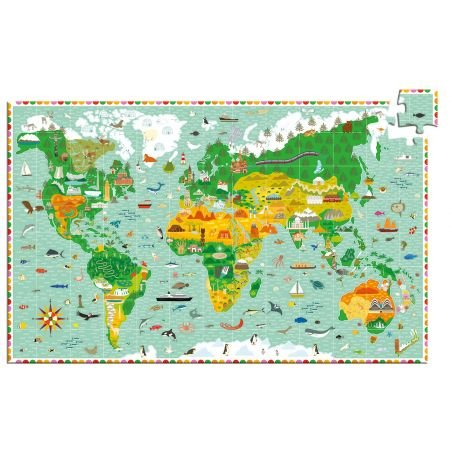 Puzzle d'observation Tour du monde 200 pièces
