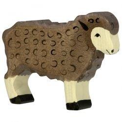 Mouton debout noir