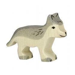 Petit loup en bois