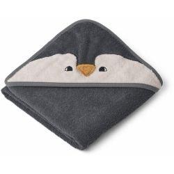 Petite cape de bain en coton bio | Pingouin