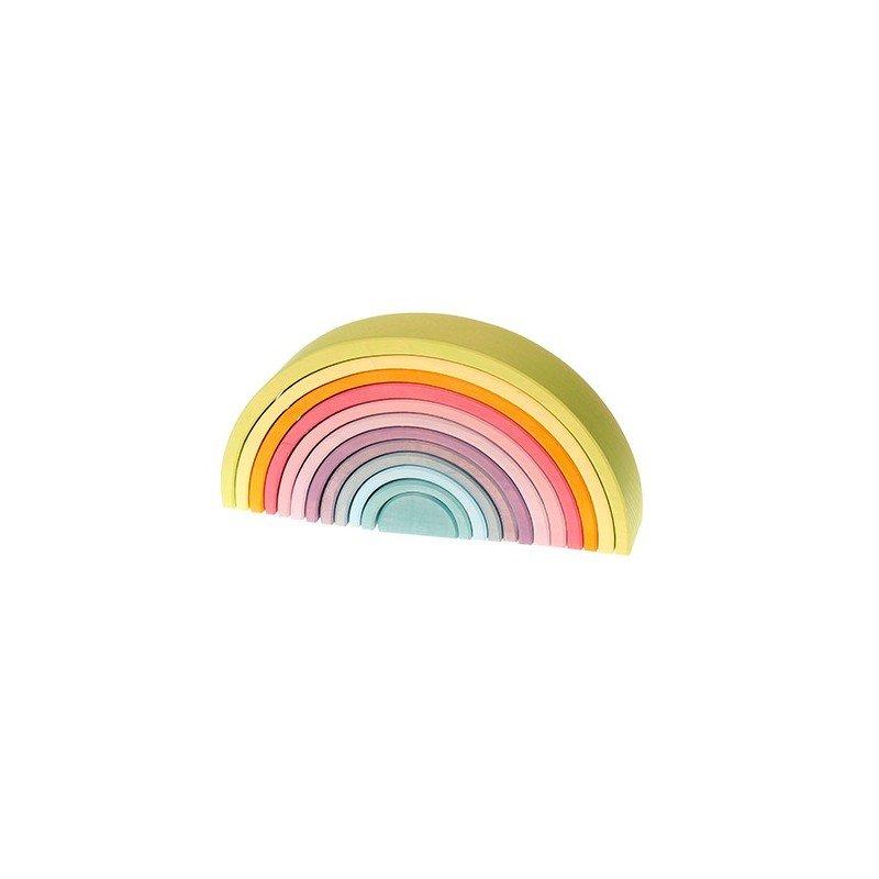 Jouet en bois écologique arc-en-ciel Grimm's Pastel labyrinthe de balles