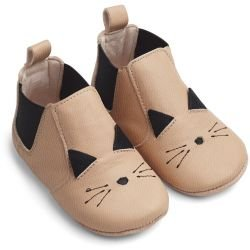 Chaussons | Chat rose