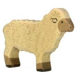 Mouton debout en bois