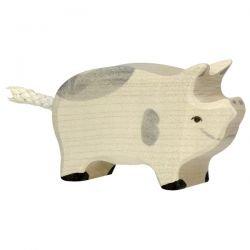 Porcelet tacheté en bois