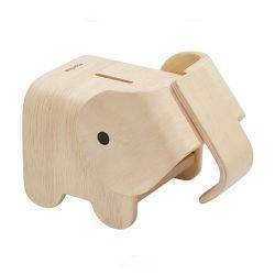 Tirelire en bois Éléphant
