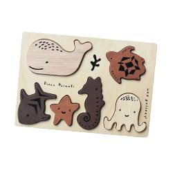 Puzzle en bois  | Animaux des Océans