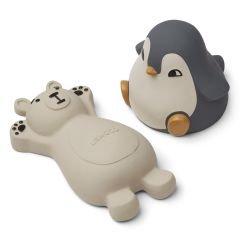 2 jouets pour le bain | Ours et Pingouin Bleu