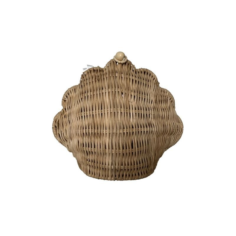 Panier osier coquillage