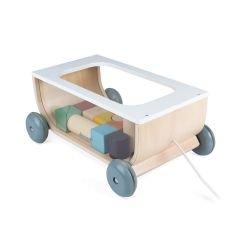 Chariot de cubes en bois