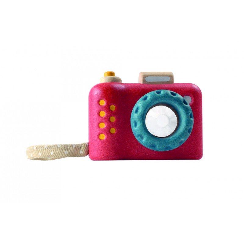 Jouet en bois écologique appareil photo kaléidoscope Plan Toys vue de dos