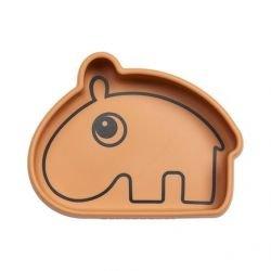 Bol en silicone | Hippo moutarde