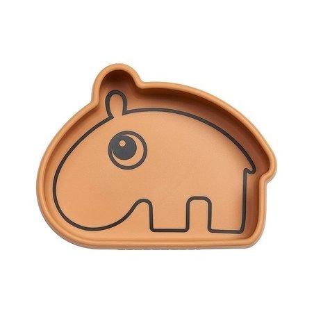 Bol en silicone   Hippo moutarde