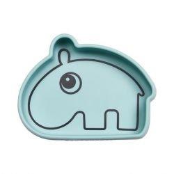 Bol en silicone | Hippo bleu