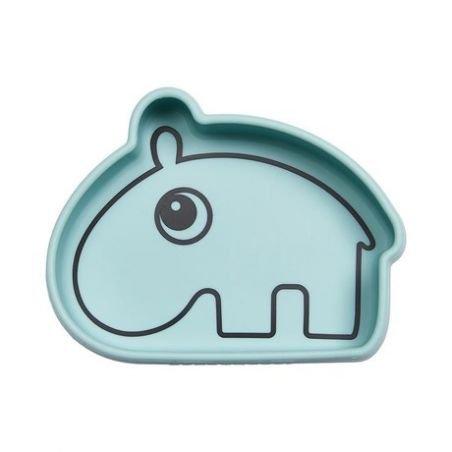Bol en silicone   Hippo bleu
