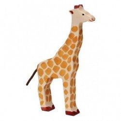 Grande girafe en bois