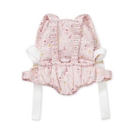 Porte bébé poupée fleurs roses