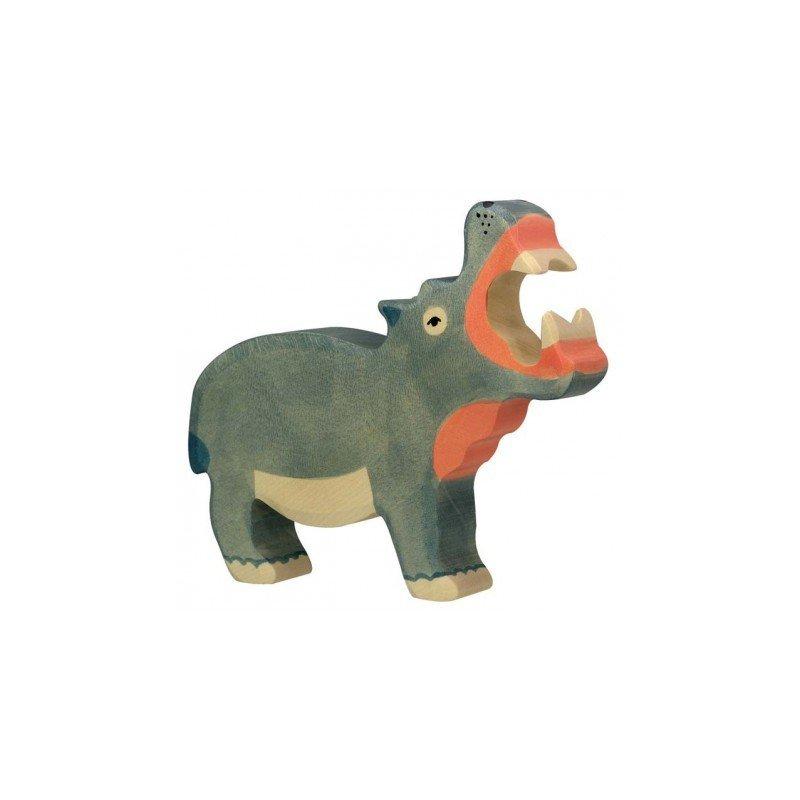 Hippopotame en bois par Holztiger