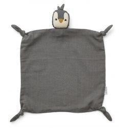 Doudou Lange en coton bio | Pingouin gris