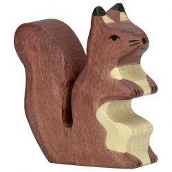 Écureuil debout marron en bois par Holztiger