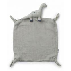 Doudou Lange en coton bio | Dinosaure  gris